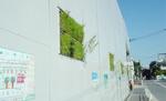 ハザマはヒートアイランド現象を緩和する仮設防音緑化パネル開発