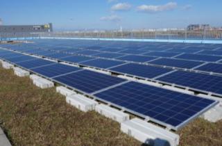 「板橋ルーフトップソーラーウェイ」太陽光発電所完成写真