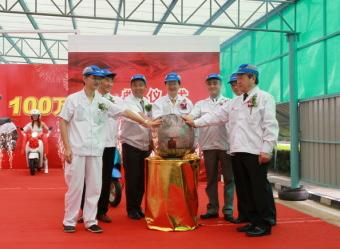 ホンダは中国での輸出専用50ccスクーター累計生産台数が100万台を達成