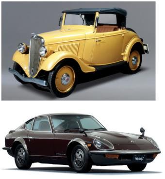 日産自動車:「日産の挑戦は、つぎの100年へ」を開催!なつかしの車を展示