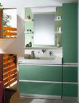 クリナップ:洗面化粧台、洗面ボールの高さ「85cm」を導入