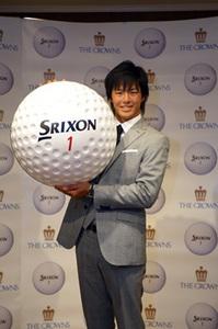 石川遼選手がSRIスポーツとのゴルフボール使用契約について会見